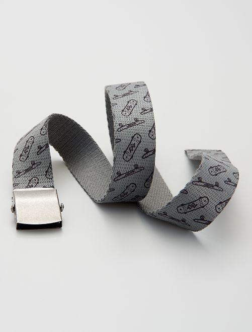 Ceinture en textile                             gris foncé