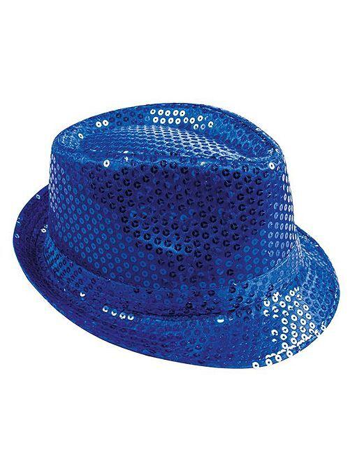 Chapeau à sequins                                         bleu