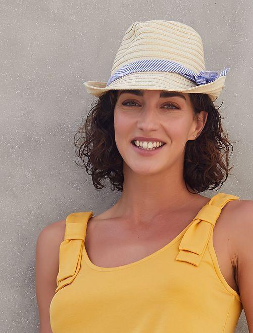 Chapeau borsalino                             beige Femme