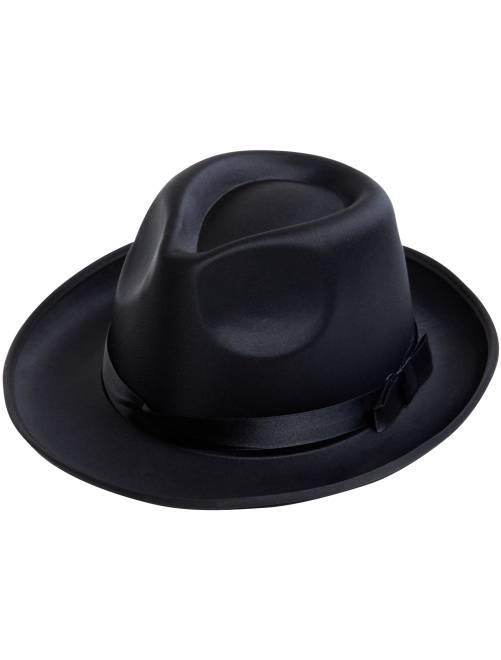 Chapeau borsalino effet satin                             noir