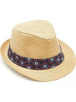 Accessoire - Chapeau borsalino ruban 'wax'