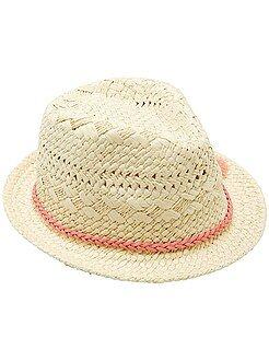 Accessoires - Chapeau borsalino tressage fantaisie