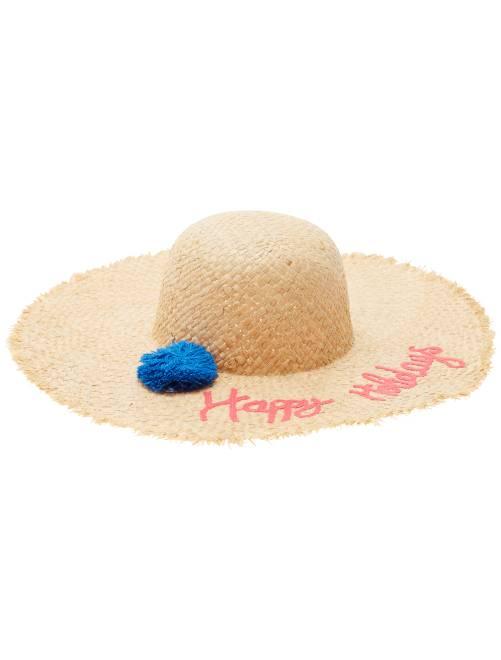 Chapeau capeline avec pompon                     rose Femme