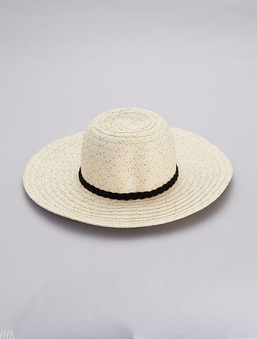 Chapeau capeline                             beige Femme