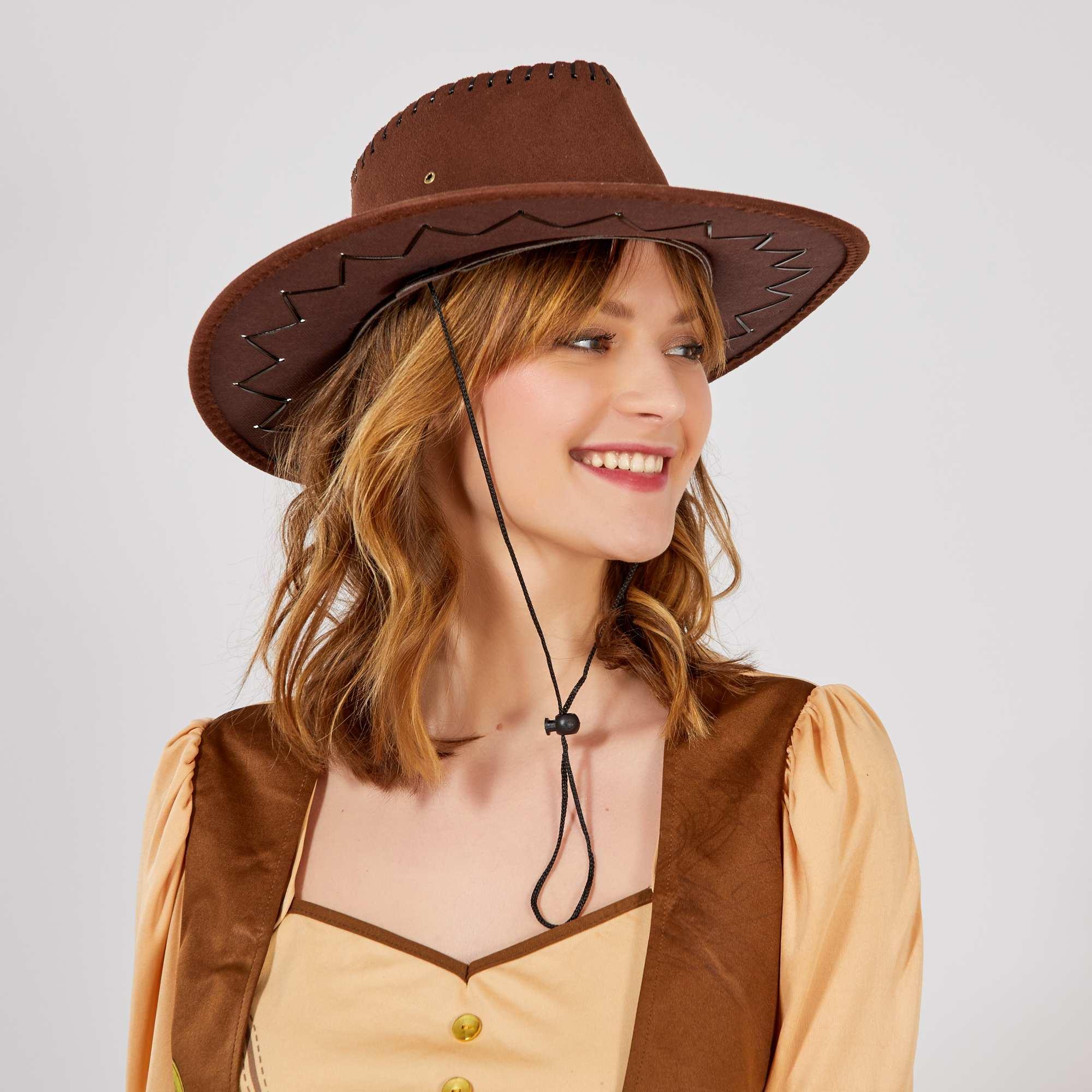 chapeau de cow boy homme marron kiabi 5 00. Black Bedroom Furniture Sets. Home Design Ideas