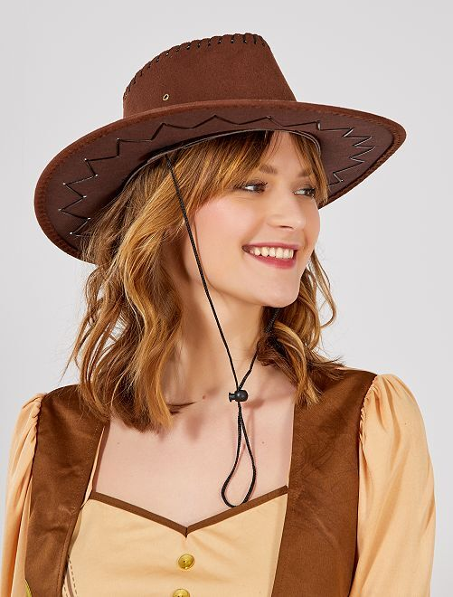 Chapeau de cow boy                                                     marron