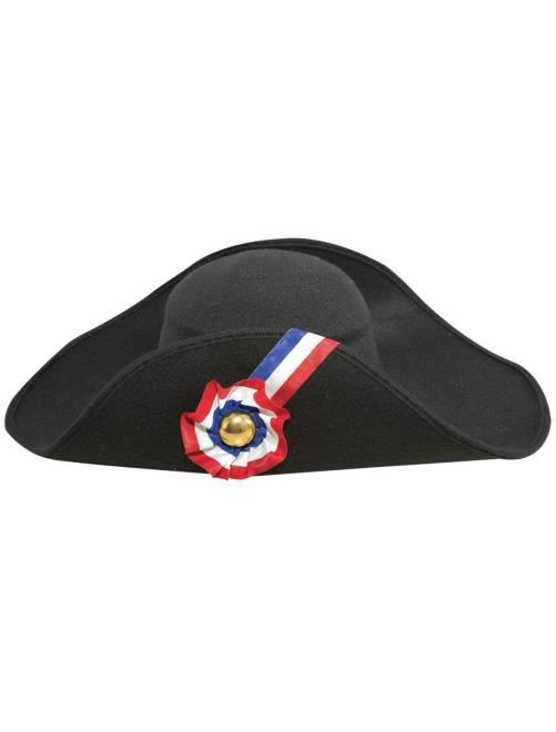 Chapeau de 'Napoléon' façon laine                             noir