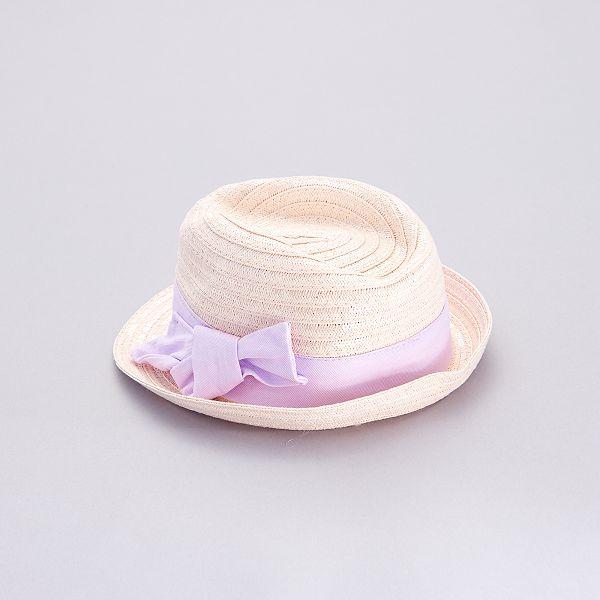 SUPERBE Crochet Bébé Chapeau//Beanie avec blanc et rose fleur 0-3 mois