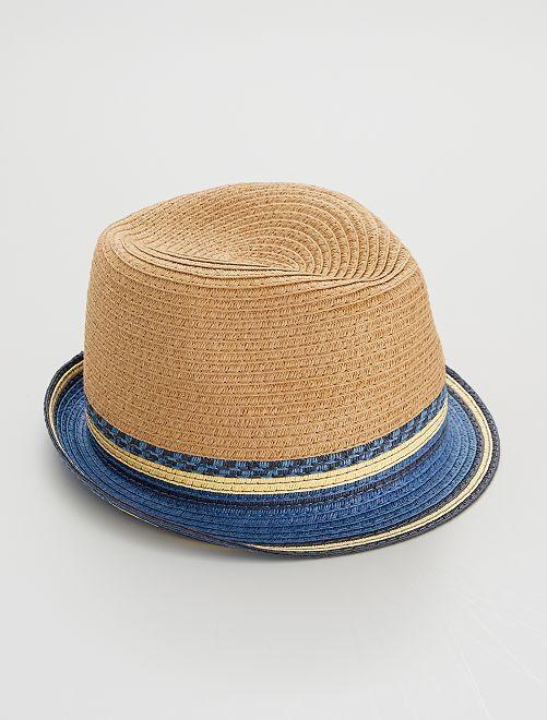 Chapeau de paille                             beige/bleu