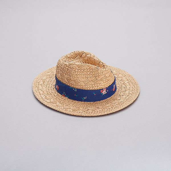 sale great deals quality Chapeau de paille Fille - bleu foncé - Kiabi - 7,00€