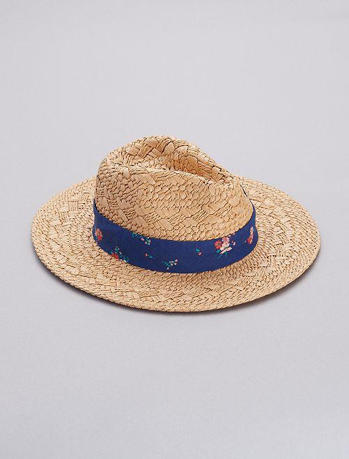 Chapeau de paille                             bleu foncé
