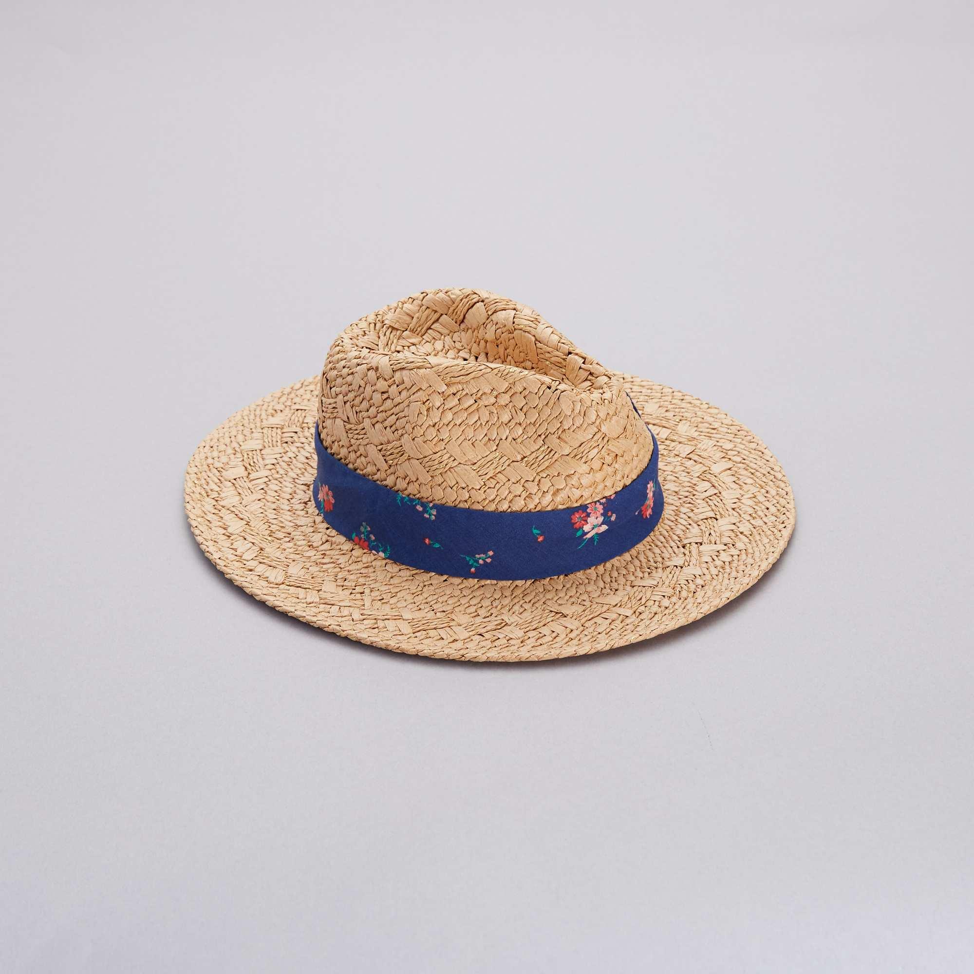 979703b5e7878 Chapeau de paille Fille - bleu foncé - Kiabi - 2,80€
