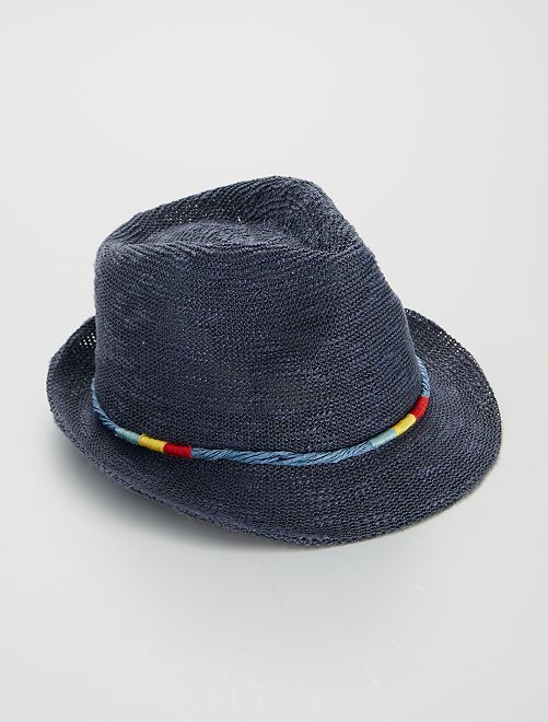 Chapeau de paille                             bleu