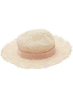 Fille 3-12 ans - Chapeau de paille capeline - Kiabi