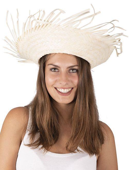 Chapeau de paille Hawaï                             beige