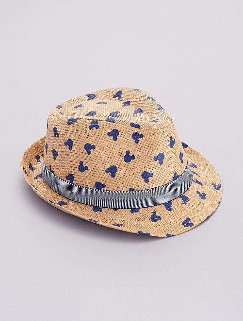 Chapeau de paille 'Mickey'                             marron
