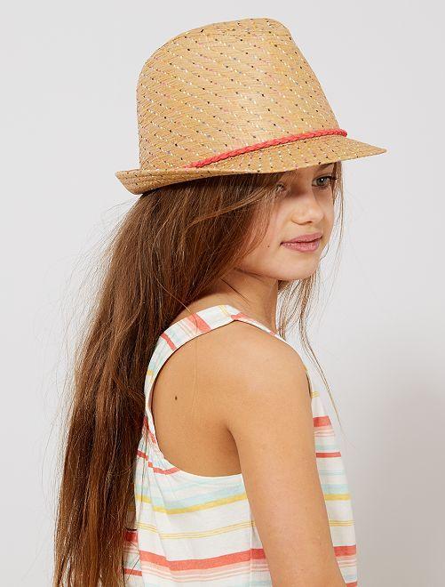Chapeau de paille multicolore                             multicolore