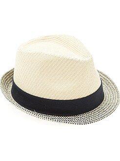 Garçon 3-12 ans - Chapeau de paille type panama - Kiabi