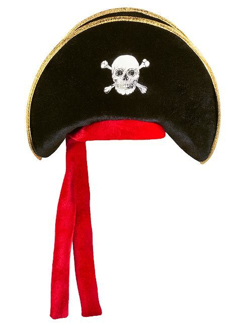 Chapeau de pirate                             noir/rouge