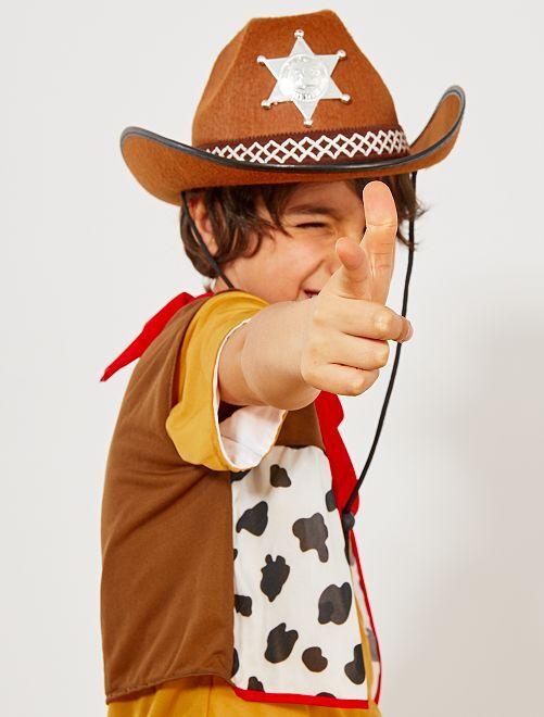 Chapeau de shérif enfant                                         marron