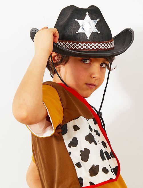 Chapeau de shérif enfant                                         noir Accessoires