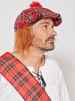 Accessoires Chapeau écossais avec faux cheveux