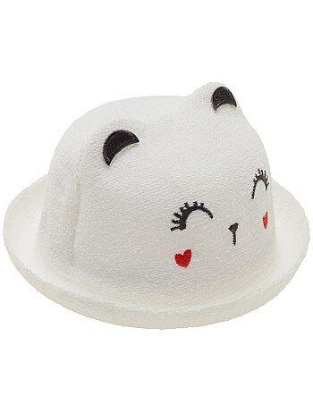 Chapeau façon bouclette `chat`