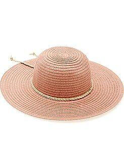 Accessoires - Chapeau forme capeline