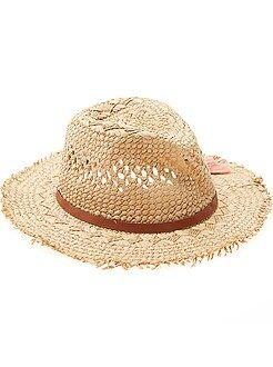 Fille 3-12 ans - Chapeau forme panama - Kiabi