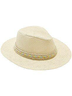 Fille 3-12 ans Chapeau panama bord long