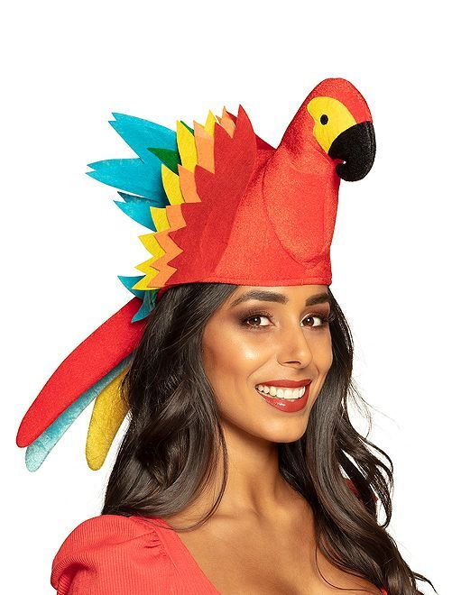 Chapeau perroquet                             multicolore
