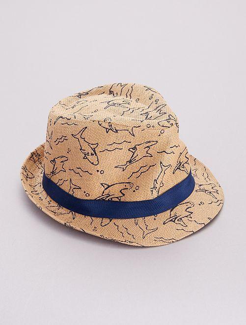 Chapeau 'requin'                             bleu