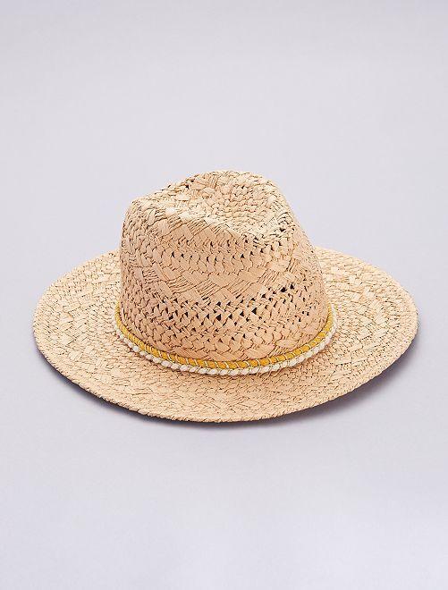 Chapeau style borsalino                             marron