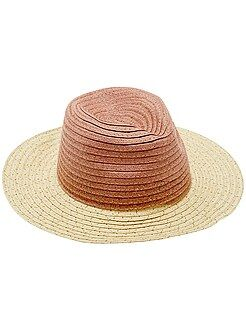 Chapeau style panama bicolore