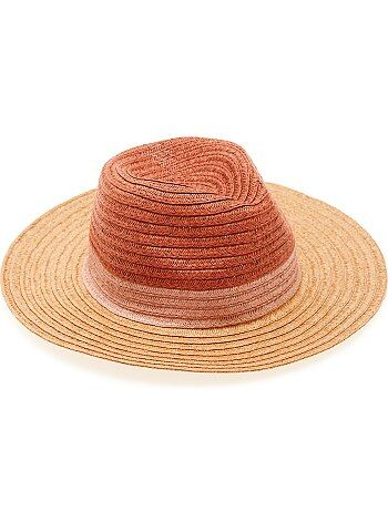 Chapeau style panama tricolore