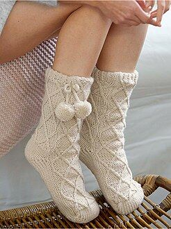 Chaussons - Chaussettes chaussons doublés sherpa