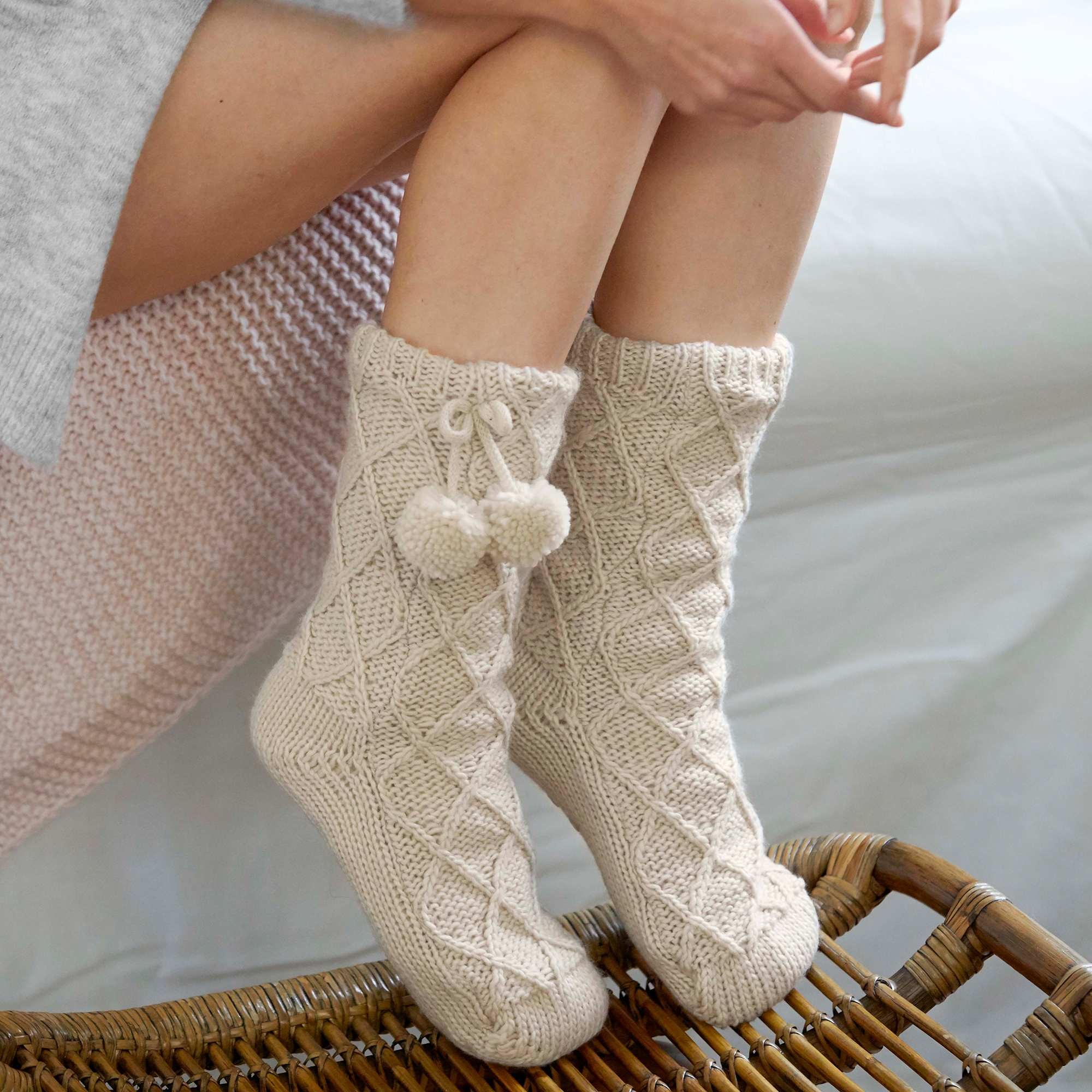 chaussettes chaussons doubl s sherpa femme kiabi 8 00. Black Bedroom Furniture Sets. Home Design Ideas
