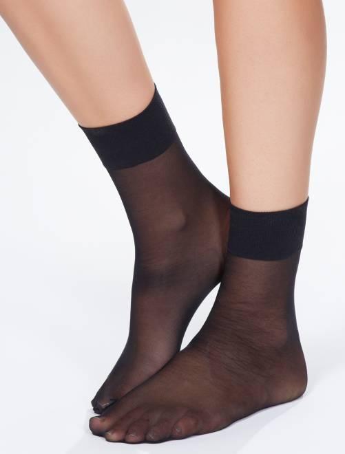 Chaussettes en voile 'Sanpellegrino' Dream 20D                             noir
