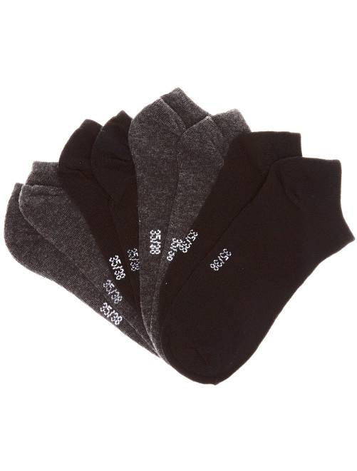 Chaussettes invisibles par lot de 4 paires                                         noir/gris