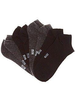 Chaussettes - Chaussettes invisibles par lot de 4 paires - Kiabi