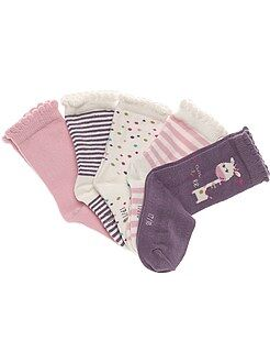 Fille 0-36 mois Chaussettes par lot de 5 paires