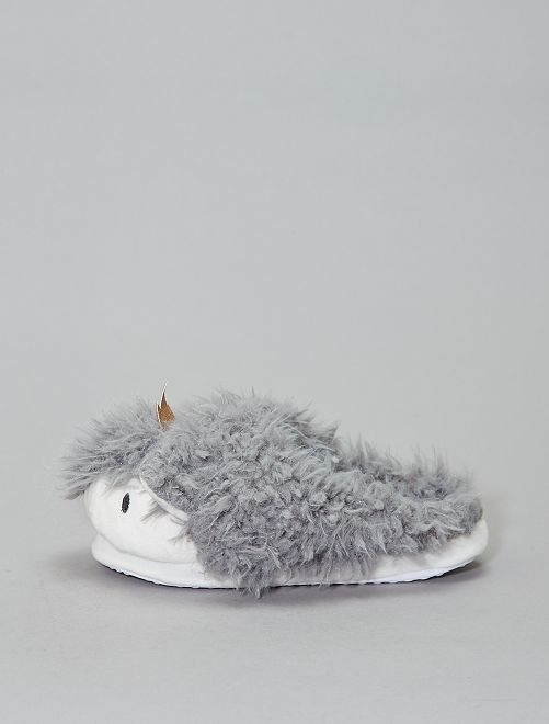 Chausson mules animal                                         gris Femme