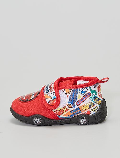 Chaussons à scratch 'Cars'                                         rouge