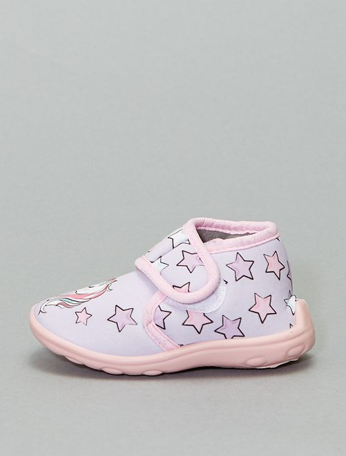 Chaussons à scratch 'Minnie'                             rose