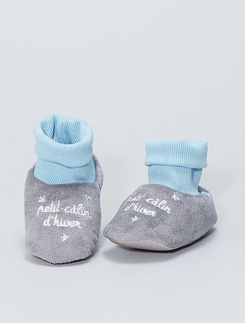 Chaussons 'Absorba'                             gris/bleu