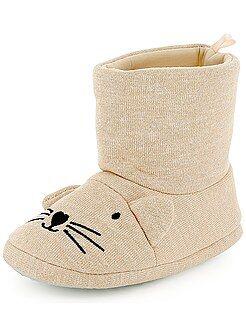 Chaussures fille - Chaussons animation tête de chat - Kiabi