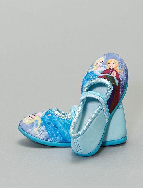 Chaussons ballerine 'La Reine des Neiges'                             bleu