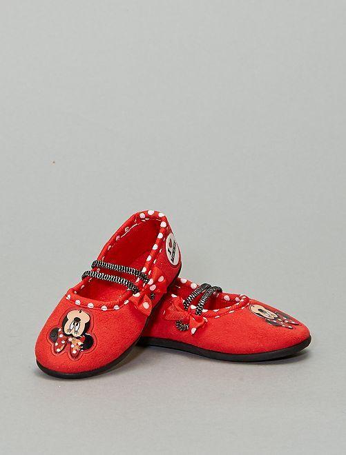 Chaussons ballerine 'Minnie'                             rouge