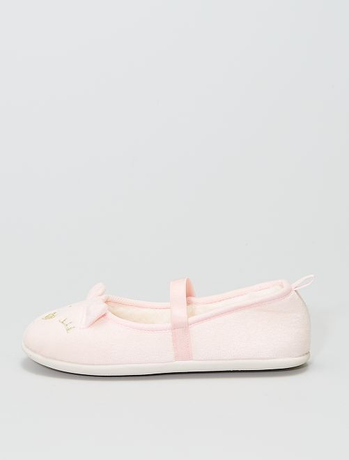 Chaussons ballerines 'chat'                             rose