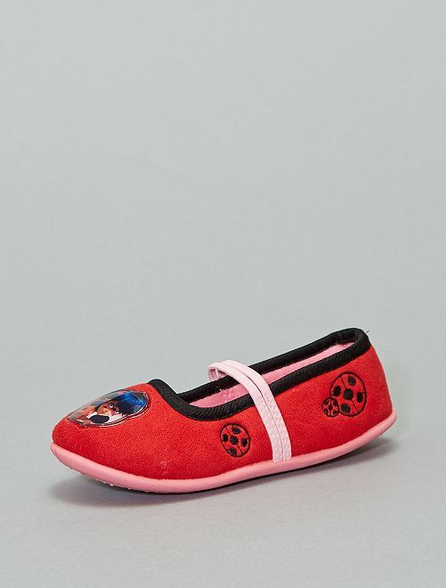 Chaussons ballerines 'Ladybug'                                         rouge
